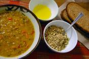 Garlic Soup With Lentils