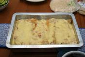 Green Chile Sour Cream Enchiladas