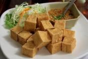Greens &amp; Tofu In Peanut Sauce
