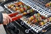Grilled Indian Chicken And Vegetable Kebabs