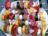Grilled Chicken & Vegetable Kebabs