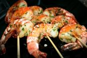 Grilled Garlic Shrimp With Stock