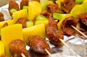 Grilled Pork And Fruit Kabobs