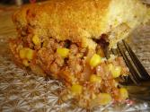 Ground Beef, Corn And Tomato Pie