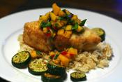 Halibut With Mango Sauce