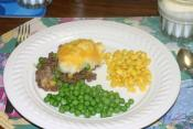 Hamburger And Peas