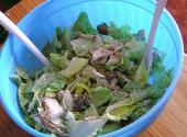 Hot Chicken Chestnut Salad