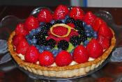 Kiwi Fruit Cream Tart