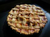Lattice Peach Pie