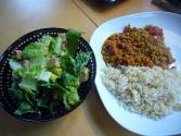 Pork Rice And Lentil Salad