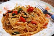 Linguine With Shrimp And Basil Sauce