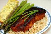 Steamed Salmon With Quick Spectrum Spicy Asian Marinade