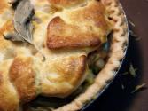 Meat Pie With Biscuit Topping