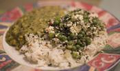 Minted Rice With Peas