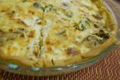 Low-fat Mushroom Quiche
