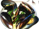 Mussels And Shallot-wine Sauce