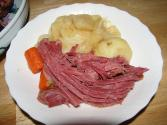 New England Corned Beef And Cabbage Dinner