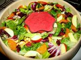 Fresh Orange Cranberry Juice Salad