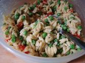 Orzo Bell Pepper Salad