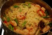 Pasta With Prawns And Sun Dried Peppers