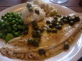 Poached Fish Steak With Anchovy Sauce