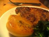 Ginger Pork Chops With Apples And Prunes