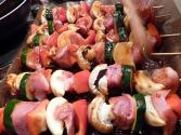 Pork And Vegetable Kebabs
