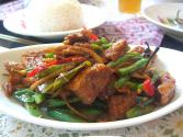 Pork With Deep Fried Green Beans