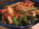 Prawns With Peas And Red Pepper