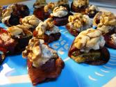 Prosciutto Wrapped Figs With Gorgonzola & Walnuts