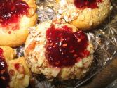 Raspberry Almond Thumbprints
