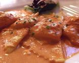 Ravioli With Tomato Cream Sauce