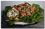 Fresh Raw Spinach Salad