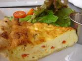 Red &amp; Green Pepper Quiche