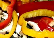Red Peppers And Mushrooms