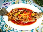 Red Snapper In Eggplant Sauce