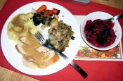 Roast Turkey With Bread Stuffing