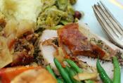 Roast Turkey With Chestnut And Cornbread Stuffing