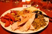 Roast Turkey Breast With Spinach Blue Cheese Stuffing
