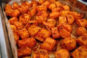 Pan Roasted Sweet Potato Chunks