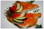 Salmon Cucumber Sandwich