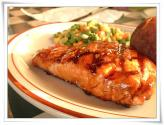 Salmon Steaks With Apple Sauce