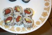Salmon Sushi With Avocado