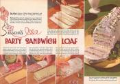 Frosted Sandwich Loaf With Ham Filling