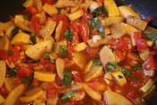Sauteed Squash And Tomatoes