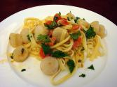 Linguine With Scallops In Curried Cream Sauce