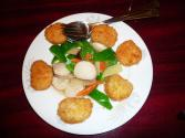 Holiday Scallops With Julienne Vegetables