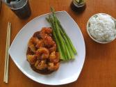Sesame Shrimp And Asparagus