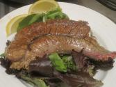Baked Shad Roe With Lemon Butter Sauce