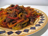 Shredded Beef With Green Peppers
